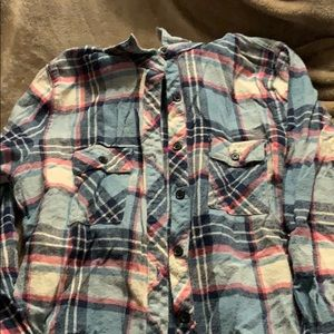 Flannel with removable hood